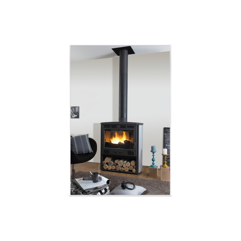 po le bois godin grand bois noir 11 kw. Black Bedroom Furniture Sets. Home Design Ideas