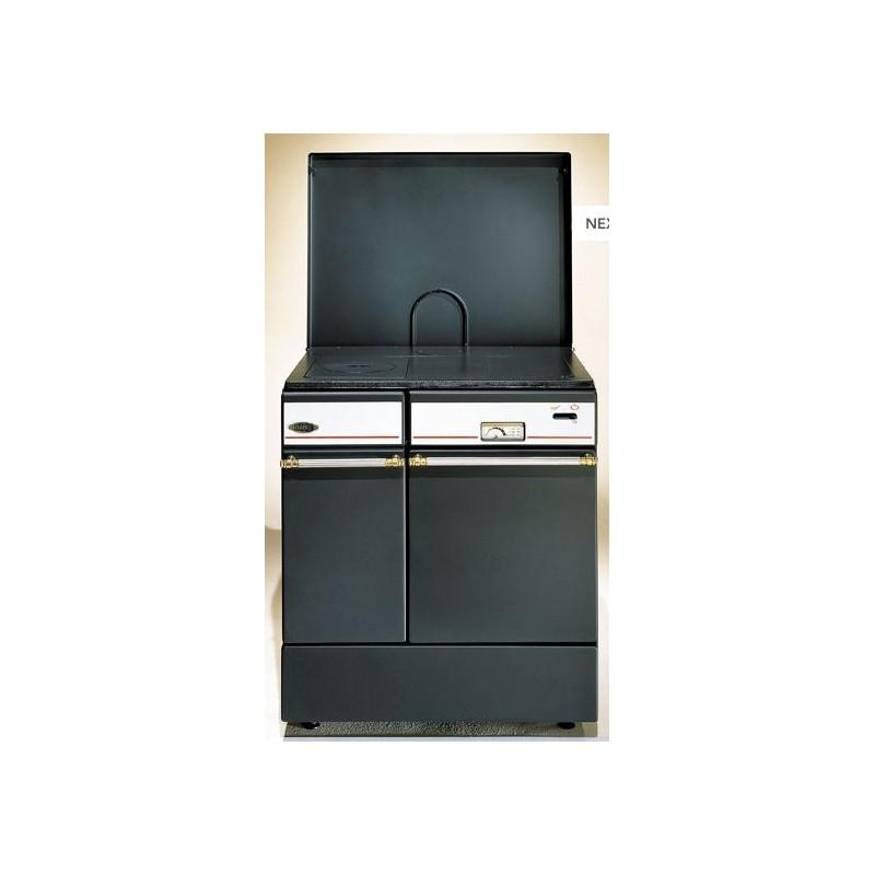 fourneau cuisini re godin bois arpege noir 10 kw. Black Bedroom Furniture Sets. Home Design Ideas