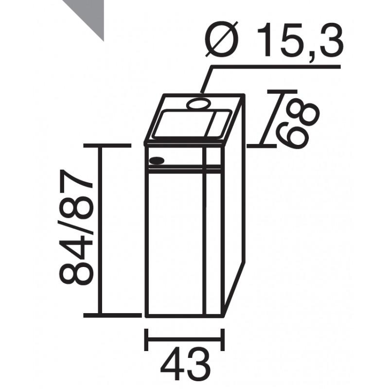 Chaudière de Cuisine Bois GODIN ARPEGE Blanc 22 kW
