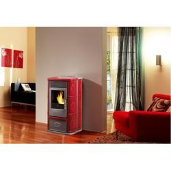 Poêle à Granules EDILKAMIN ROSE Rouge 8 kW