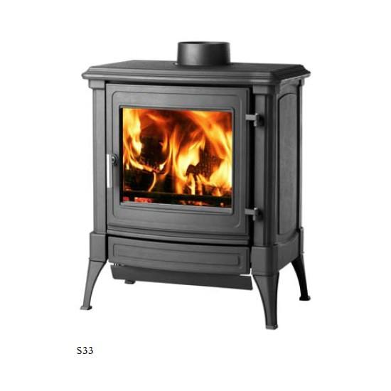 po le bois efel s33 48 graphite 9 kw. Black Bedroom Furniture Sets. Home Design Ideas