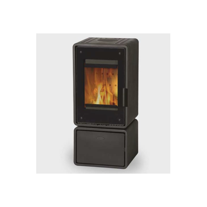 po le bois fireplace etoile 104 acier 5 kw. Black Bedroom Furniture Sets. Home Design Ideas