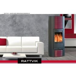 Poêle à Bois SYLVATIKA RATTVIK Céramique Blanc 7 kW