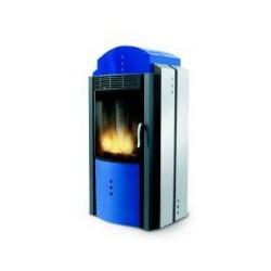Poêle à Granules PALAZZETTI CLASSIC MINI bleu / Inox 8 kW
