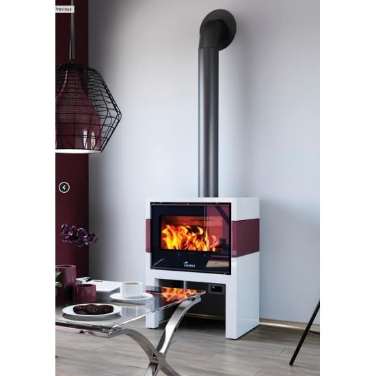 po le bois lacunza titanium 702 blanc bordeaux 10 kw. Black Bedroom Furniture Sets. Home Design Ideas
