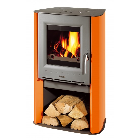 Po le bois supra artis orange 7 kw for Normes poele a bois