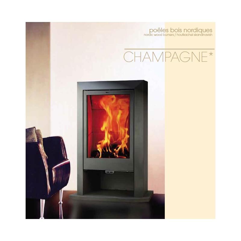 po le bois chemin e franco belge champagne ii noir 12 kw. Black Bedroom Furniture Sets. Home Design Ideas