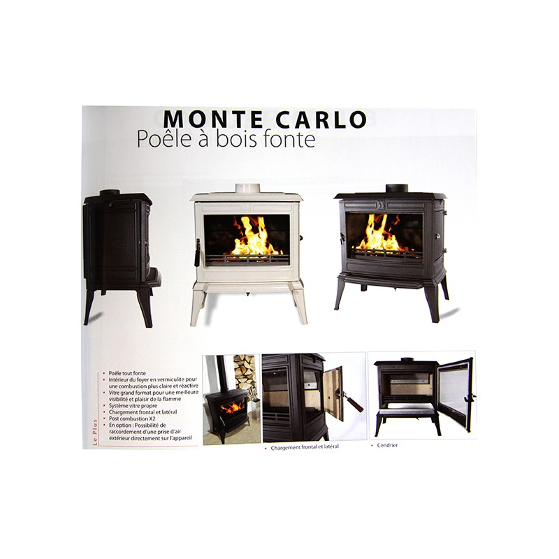 Po le bois fonte franco belge monte carlo emaill for Poele a bois chargement lateral