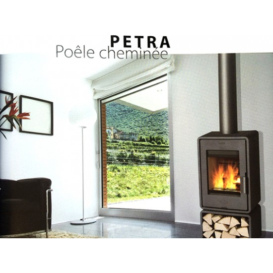 po le bois chemin e franco belge petra habillage acier 5 kw. Black Bedroom Furniture Sets. Home Design Ideas