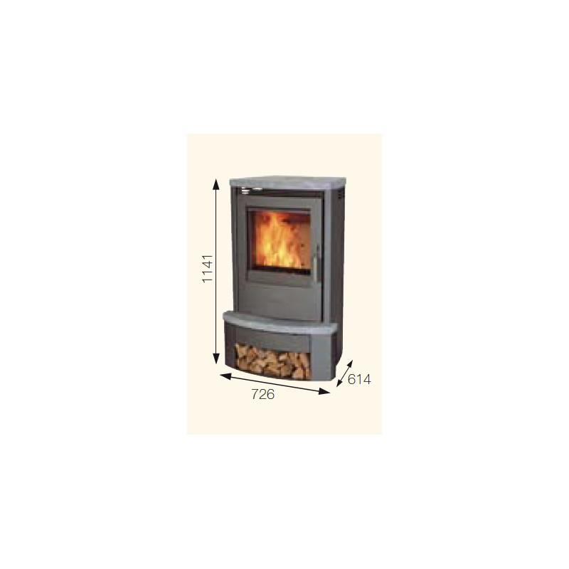 poele a bois avec pierre refractaire id e int ressante pour la conception de meubles en bois. Black Bedroom Furniture Sets. Home Design Ideas