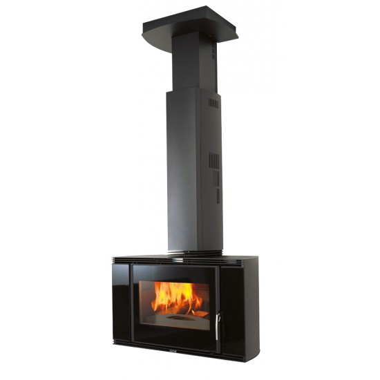 Cheminée SUPRA BLACK SCREEN 10 kW