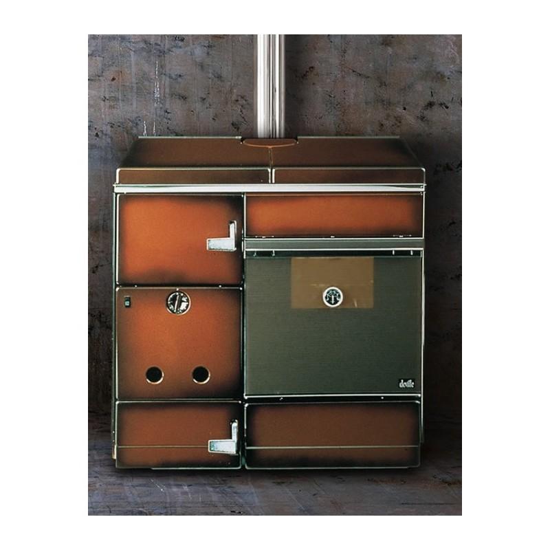 cuisini re chaudi re bois deville gingembre brun flamm 17 kw. Black Bedroom Furniture Sets. Home Design Ideas