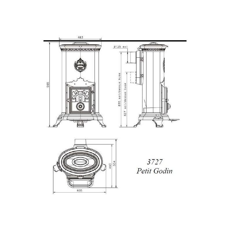 po le bois petit godin 3727 vert 10 kw. Black Bedroom Furniture Sets. Home Design Ideas