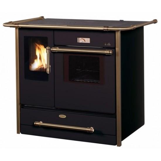 po le fourneau bois deville cardamome vision noir 12 kw. Black Bedroom Furniture Sets. Home Design Ideas