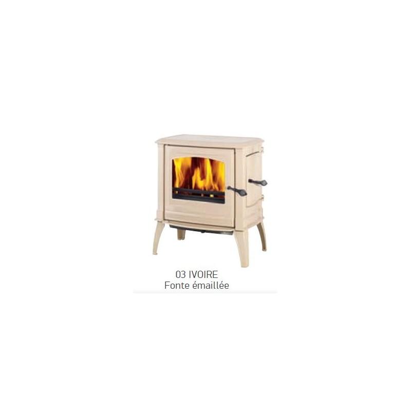 po le bois supra vercors 03 ivoire fonte emaill 9 kw. Black Bedroom Furniture Sets. Home Design Ideas