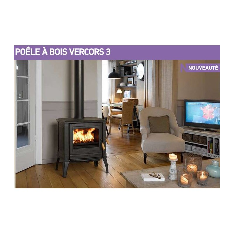 po le bois supra vercors 03 ivoire fonte emaill 9 kw. Black Bedroom Furniture Sets. Home Design Ideas