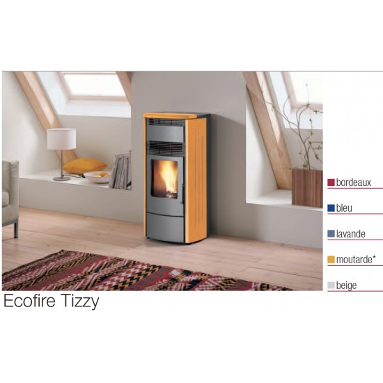 po le granules palazzetti ecofire tizzy beige 6 kw. Black Bedroom Furniture Sets. Home Design Ideas