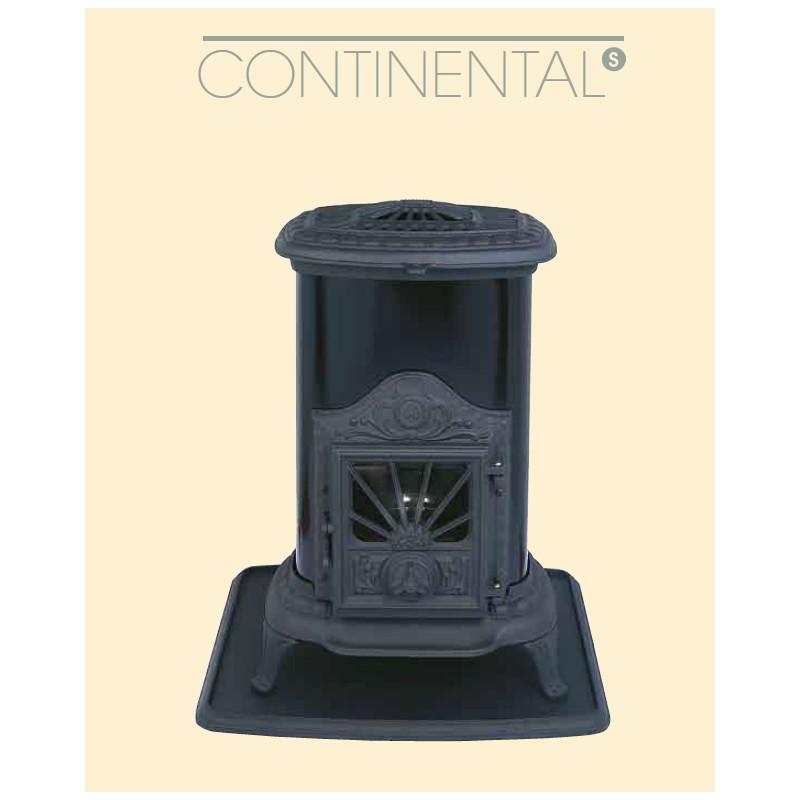 po le mazout franco belge continental s noir 7 kw. Black Bedroom Furniture Sets. Home Design Ideas