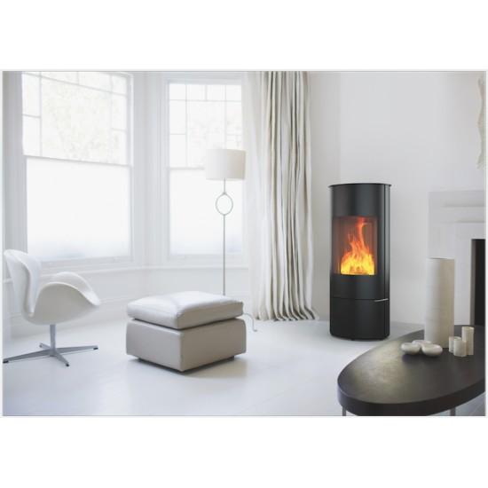 po le bois deville saturne etanche noir 7 kw. Black Bedroom Furniture Sets. Home Design Ideas