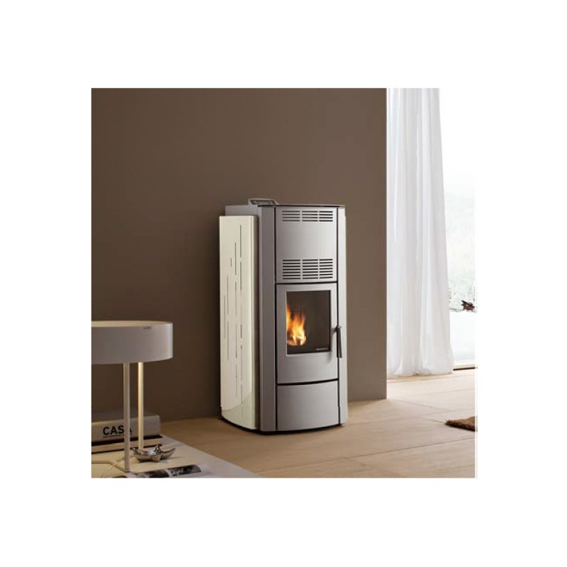 po le granules palazzetti ecofire silent francesca fa ade gris 8 kw. Black Bedroom Furniture Sets. Home Design Ideas