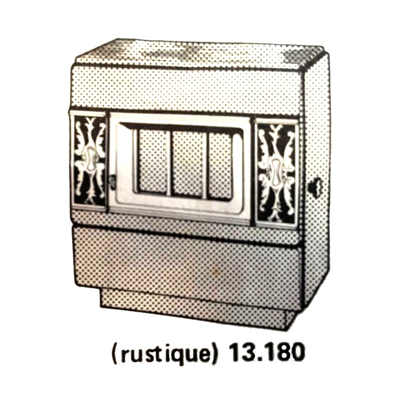 po le bois franco belge marron 13 kw. Black Bedroom Furniture Sets. Home Design Ideas