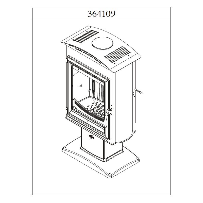 po le bois godin brulhaut anthracite et porte plate 15 kw. Black Bedroom Furniture Sets. Home Design Ideas