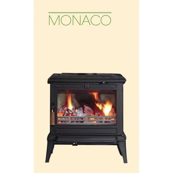 Poêle à Bois FRANCO BELGE MONACO Tout Fonte Noir 8 kW