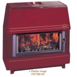 Poêle à bois DEVILLE EMILIA Rouge 13 kW